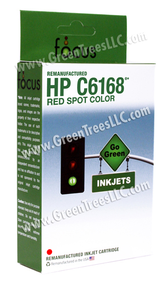 HP C6168A Red Spot Color Remanufactured Inkjet Cartridge (42 ml ink)