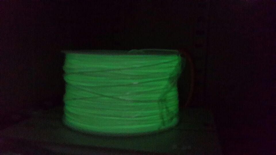 Glow in Dark Green 3D Printing 1.75mm ABS Filament Roll