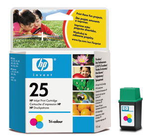 ..OEM HP 51624A (HP 25) Tri-Color Print Cartridge, 19.5 ml (250 page yield)