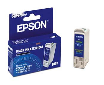 ..OEM Epson T007201 Black Ink Jet Cartridge (370 page yield)