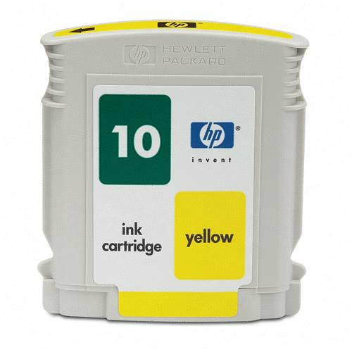HP C4842A (HP 10) Yellow Remanufactured InkJet Cartridge (1,650 page yield)