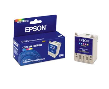 ..OEM Epson T008201 Five-Color Ink Jet Cartridge (220 page yield)