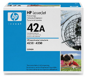..OEM HP Q5942A (HP 42A) Black Laser Toner Cartridge (10,000 page yield)