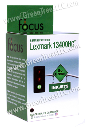 Lexmark 13400HC (#400) Black Remanufactured Inkjet Cartridge