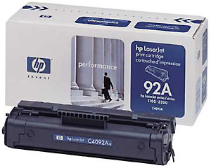 ..OEM HP C4092A (HP 92A) Black Laser Toner Cartridge (2,500 page yield)