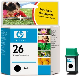 ..OEM HP 51626A (HP 26) Black Print Cartridge, 40ml (795 page yield)